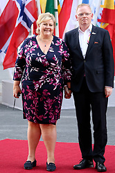 July 7, 2017 - Hamburg, Hamburg, Deutschland - Erna Solberg mit Gatte Sindre Finnes bei der Ankunft zu einem Konzert in der Elbphilharmonie im Rahmen des G20-Gipfel. Hamurg, 07.07.2017 (Credit Image: © Future-Image via ZUMA Press)
