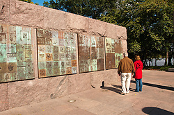 Decorative wall, Franklin Delano Roosevelt Memorial, Washington, DC, dc124610
