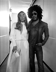 """Lenny Kravitz releases a photo on Twitter with the following caption: """"""""NYC. Never know who you're gonna meet in the hallway. @JLo"""""""". Photo Credit: Twitter *** No USA Distribution *** For Editorial Use Only *** Not to be Published in Books or Photo Books ***  Please note: Fees charged by the agency are for the agency's services only, and do not, nor are they intended to, convey to the user any ownership of Copyright or License in the material. The agency does not claim any ownership including but not limited to Copyright or License in the attached material. By publishing this material you expressly agree to indemnify and to hold the agency and its directors, shareholders and employees harmless from any loss, claims, damages, demands, expenses (including legal fees), or any causes of action or allegation against the agency arising out of or connected in any way with publication of the material."""