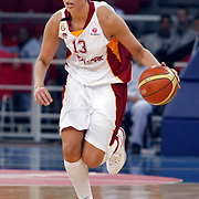Galatasaray's Diana TAURASI during their Euroleague woman Group A basketball match Galatasaray between UMMC Ekaterinburg at the Abdi Ipekci in Istanbul at Turkey on wednesday,October, 26, 2010. Photo by TURKPIX