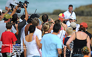 Gold Coast, Australia - March 6: The crowd swarms to Steph Gilmore after her semi final win over Hawaiian Coco Ho at the Roxy Pro Gold Coast 2010 at Snapper Rocks on the Gold Coast, March 6, 2010 Photo by Matt Roberts/MATTRimages.com.au | Image ID: MTR_0589.jpg