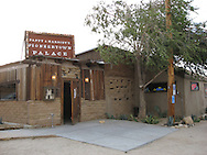 Frontier Town near Joshua Tree in Southern California.  Pappy and Harriet's restaurant serves delicious barbeque and has served as a Hollywood hideaway for decades.