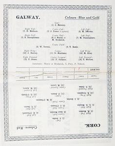 All Ireland Senior Hurling Championship Final,.09.09.1928, 09.09.1928, 9th September 1928,.9091928AISHCF,.Cork 6-12, Galway 1-0,.Senior Cork v Galway,.Croke Park, ..Cork Senior Team, J. Burke, Goalkeeper, M. Madden, Right corner-back, Sean Murphy, Captain, Full-back,  E. O'Connell, Left corner-back, D. B. Murphy, Right half-back, J. O'Regan, Centre half-back, T. Barry, Left corner-back, J. Hurley, Midfielder, M. O'Connor, Midfielder, E. Coughlan, Right half-forward, P. Ahern, Centre half-forward, G. O'Grady, Left half-forward, P. Delea, Right corner-forward, M. Leahy, Centre full-forward, M. Ahern, Left corner-forward,..Galway Senior Team, J. Mahony, Goalkeeper, E. McGann, Right corner-back, J. Power, Captain, Full-back, M. Derivan, Left corner-back, S. Shaughnessy, Right half-back, J. Morris, Centre half-back, M. Broderick, Centre half-back, M. Cunningham, Left half-back, W. Curran, Midfielder, T. Keely, Midfielder, J. Harvey, Right half-forward, D. Morrissey, Centre half-forward, M. King, Left half-forward,  P. Green, Right corner-forward,  P. Gilligan, Centre full-forward, T. Mullins, Left corner-forward, Substitutes, T. Fury, P. Neland, J. Morris, M. Broderick, ..