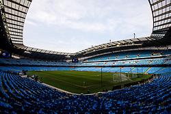 A general view of The Etihad Stadium, ahead of Manchester City v Tottenham Hotspur in the Champions League Quarter Final 2nd Leg - Mandatory by-line: Robbie Stephenson/JMP - 17/04/2019 - FOOTBALL - Etihad Stadium - Manchester, England - Manchester City v Tottenham Hotspur - UEFA Champions League Quarter Final 2nd Leg