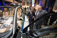 23 OCT 2012, BERLIN/GERMANY:<br /> Dr.-Ing. Herbert Diess, Mitglied des Vorstandsmitglied Entwicklung der BMW AG, und Peter Altmaier (R), CDU, Bundesumweltminister, besichtigen eine Studie eines Elektroautos, BMW Leistungsschau Elektromobilitaet, E-Werk Berlin<br /> IMAGE: 20121023-02-071<br /> KEYWORDS: Automobilindustrie, KFZ, Auto, Elektromobilität, E-Mobility