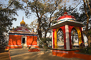 Orange color temple, Lonavla, Maharashtra, India