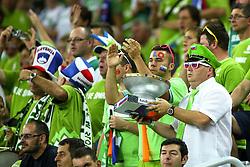 08-09-2015 CRO: FIBA Europe Eurobasket 2015 Slovenie - Nederland, Zagreb<br /> De Nederlandse basketballers hebben de kans om doorgang naar de knockoutfase op het EK basketbal te bereiken laten liggen. In een spannende wedstrijd werd nipt verloren van Slovenië: 81-74 / Fans. Photo by Matic Klansek Velej / RHF