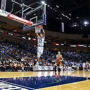 Nov 22  2018 Las Vegas, NV  U.S.A.  North Carolina guard Cameron Johnson (13) slam dunk the ball during the NCAA Men's Basketball Continental Tire Las Vegas Invitational between North Carolina Tar heels and the Texas Longhorns 89-92 lost at The Orleans Arena Las Vegas, NV. Thurman James / CSM