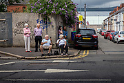 Onlookers. Waiting for the parade. Belfast, NI, 2021