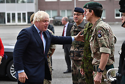 September 8, 2017 - Estonia, Estonia - Image ©Licensed to i-Images Picture Agency. 08/09/2017. Estonia. Boris Johnson Driving a Tank. The Foreign Secretary Boris Johnson has a ride in a British Army Tank accompanied by  the British Troops involved with Natio in Tapa, Estonia. Picture by Andrew Parsons / i-Images (Credit Image: © Andrew Parsons/i-Images via ZUMA Press)