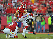 KANSAS CITY, MO - OCTOBER 20:  Kicker Ryan Succop #6 of the Kansas City Chiefs kicks a 22-yard field goal against the Houston Texans during the second half on October 20, 2013 at Arrowhead Stadium in Kansas City, Missouri.  Kansas City won 17-16. (Photo by Peter Aiken/Getty Images) *** Local Caption *** Ryan Succop