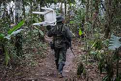 El Diamante, Meta, Colombia - 16.09.2016        <br /> <br /> 10th conference of the marxist FARC-EP in El Diamante, a Guerilla controlled area in the Colombian district Meta. Few days ahead of the peace contract passing after 52 years of war with the Colombian Governement wants the FARC decide on the 7-days long conferce their transformation into a unarmed political organization. <br /> <br /> Zehnte Konferenz der marxistischen FARC-EP in El Diamante, einem von der Guerilla kontrollierten Gebiet im kolumbianischen Region Meta. Wenige Tage vor der geplanten Verabschiedung eines Friedensvertrags nach 52 Jahren Krieg mit der kolumbianischen Regierung will die FARC auf ihrer sieben taegigen Konferenz die Umwandlung in eine unbewaffneten politischen Organisation beschlieflen. <br />  <br /> Photo: Bjoern Kietzmann