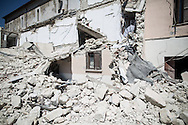 A destroyed house in the village of Accumoli where 2 lost their life when the tower belt felt in thei house