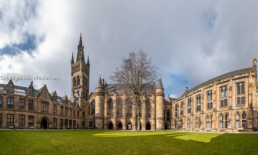View of East Quadrangle at Glasgow University , Scotland, United Kingdom