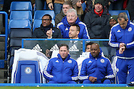 John Terry, the Chelsea captain gives a thumbs up as he sits watching the game from behind the dugout. Barclays Premier league match, Chelsea v Stoke city at Stamford Bridge in London on Saturday 5th March 2016.<br /> pic by John Patrick Fletcher, Andrew Orchard sports photography.