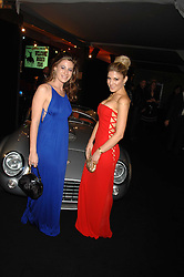 Left to right, FRANCESCA VERSACE and HOFIT GOLAN at the London Red Cross Ball themed 'Honky Tonk Blues' held at 99 Upper Ground, London SE1 on 21st November 2007.<br />