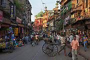 Brabourne Road, Street life in central Calcutta (Kolkata),West Bengal
