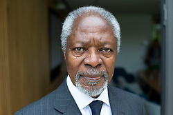June 15, 2018 - Oxford, London, United Kingdom - Kofi Annan Opens the Bonavero Institute. Mansfield Collage.. Kofi Annan, former Secretary-General of the United Nations and Nobel Peace Prize winner, visited the University of Oxford to open the Bonavero Institute of Human Rights, which is a research institute in the Faculty of Law, as well as the Hands Building at Mansfield College, where the Bonavero Institute is housed  (Credit Image: © i-Images via ZUMA Press)