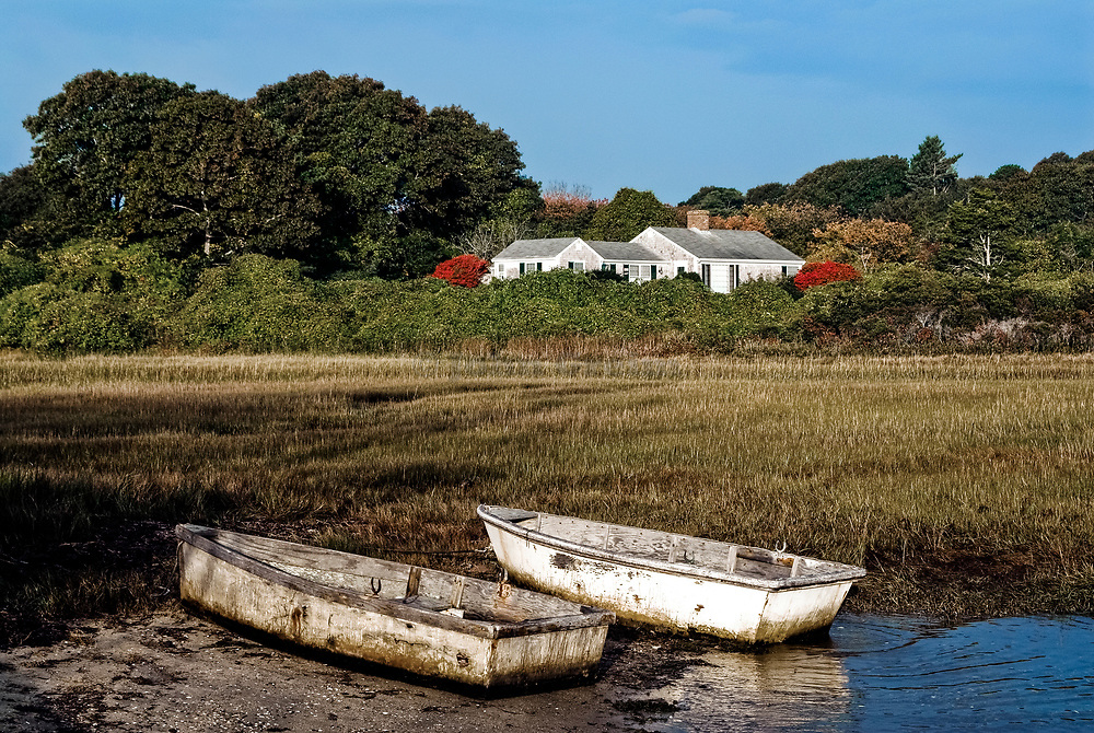 Row boats, Stage Harbor inlet, Chatham, Cape Cod, MA