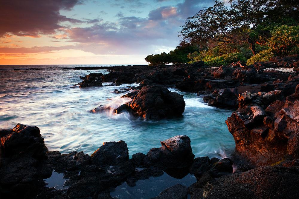 Sunset at Paniau, Puako, Lalamilo ahupuaa, Big Island, Hawaii