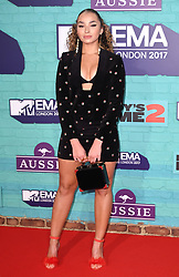 Ella Eyre arriving at the MTV Europe Music Awards 2017 held at The SSE Arena, London. Photo credit should read: Doug Peters/EMPICS Entertainment