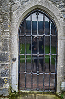 Reflection Selfie behind bars at Dunguaire Castle. Image taken with a Leica X2 camera.