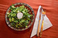 Schopska salad, in Madzharovo at the Wild Farm, Eastern Rhodope mountains, BulgariaEastern Rhodope mountains, Bulgaria