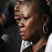 Sybrina Fulton, the mother of Trayvon Martin speaks during a rally for the shooting of Trayvon Martin on Thursday,March 22, 2012 at Fort Mellon Park in Sanford, Florida. (AP Photo/Alex Menendez) Trayvon Martin rally in Sanford, Florida.