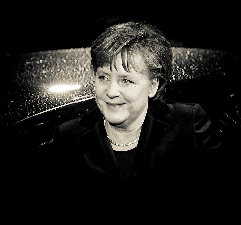 20101216 - BRUSSELS, BELGIUM:   German Federal Chancelor Angela Merkel arrives for the European Union head of states meeting, in Brussels..Photo: SCORPIX /  Patrick Mascart