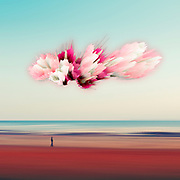 Abstract surreal seascape with digital effects