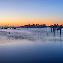 Dawn in Rye Harbor, New Hampshire.