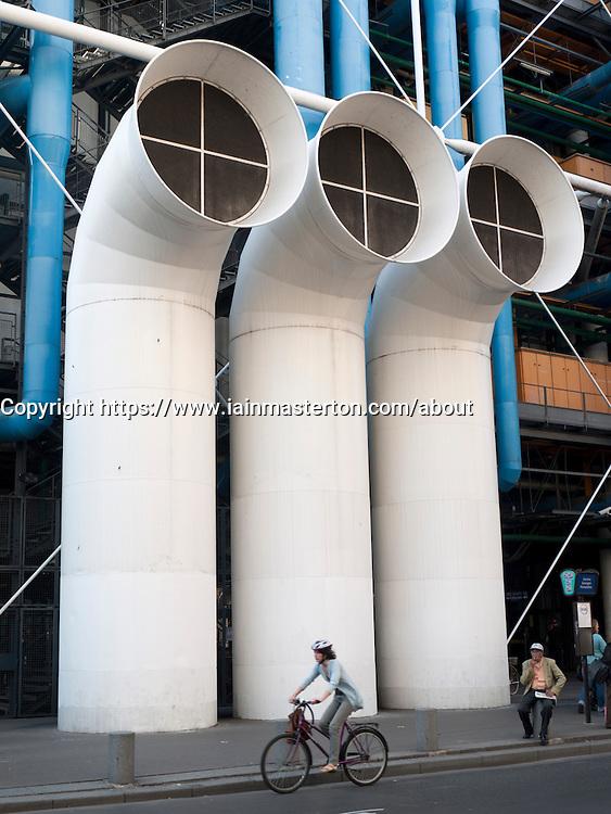 Air vents at Pompidou Center in Paris France