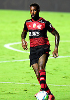 SAO PAULO, BRAZIL - FEBRUARY 25: Gerson of CR Flamengo in action ,during a Brasileirao Serie A 2020 match between Sao Paulo FC and CR Flamengo at Morumbi Stadium on February 25, 2021 in Sao Paulo, Brazil. (Photo by MB Media/BPA)