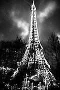 March 2015. Paris. Eiffel tower at night.
