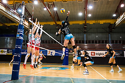 Andjelka Radiskovic of Calcit Volley during 3rd Leg Volleyball match between Calcit Volley and Nova KBM Maribor in Final of 1. DOL League 2020/21, on April 17, 2021 in Sportna dvorana, Kamnik, Slovenia. Photo by Matic Klansek Velej / Sportida