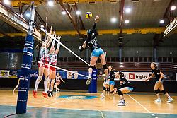 Andjelka Radiskovic of Calcit Volley during 3rd Leg Volleyball match between Calcit Volley and Nova KBM Maribor in Final of 1. DOL League 2020/21, on April 17, 2021 in Sportna dvorana, Kamnik, Slovenia. Photo by Matic Klansek Velej / Sportida