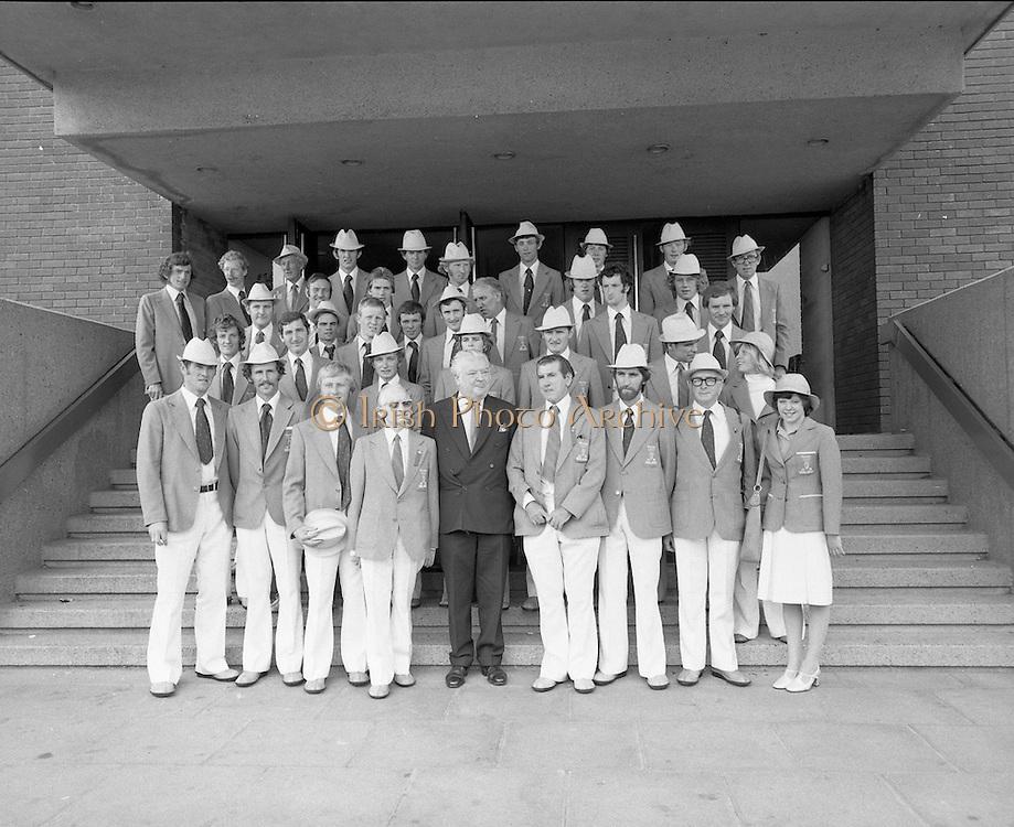 Olympic Team Leaves Dublin Airport.05/07/1976