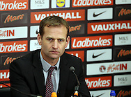 England's Technichal Director Dan Ashworth looks on during the press conference at Wembley Stadium, London. Picture date December 1st, 2016 Pic David Klein/Sportimage