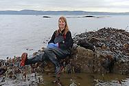 Fiona Houston, chief executive at Mara Seaweed photographed for BQ Magazine on the coastline at Granton, Edinburgh<br /> <br />  Neil Hanna Photography<br /> www.neilhannaphotography.co.uk<br /> 07702 246823
