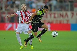 September 12, 2017 - Na - Athens, 09/12/2017 - Champions League 2017/2018: Olympiacos FC vs Sporting CP. Olympiacos FC (GRE) hosted this evening at the Stadio Georgios Karaiskakis - Piraeus stadium in Athens, Sporting Clube de Portugal (PRT) in the first match (group D) of the 2017/2018 Champions League group stage . Rodrigo Battaglia  (Credit Image: © Atlantico Press via ZUMA Wire)