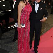 NLD/Amsterdam/20080929 - Pink Ribbon gala 2008, Liz Hurley en Henk van der Mark