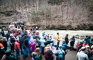 1st Day Hike at Taughannock Falls State Park on New Years Day 2019. Ithaca, NY.