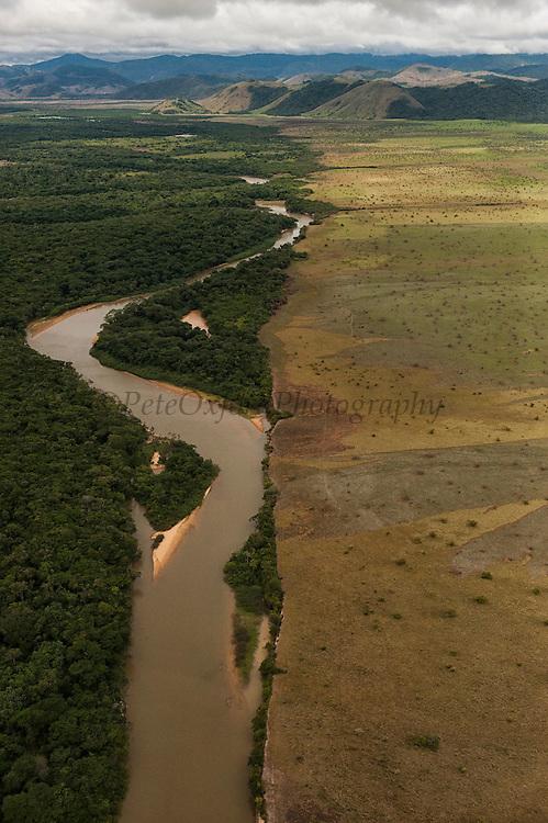 Rupununi River<br /> Seasonally flooded Savannah<br /> North Rupununi<br /> GUYANA<br /> South America