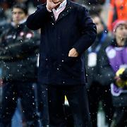 Galatasaray's coach Fatih Terim during their Turkish superleague soccer derby match Galatasaray between Besiktas at the TT Arena at Seyrantepe in Istanbul Turkey on Sunday, 27 January 2013. Photo by Aykut AKICI/TURKPIX