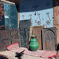 Africa, Morocco, Ouarzazate. Berber Doors of Ouarzazate.