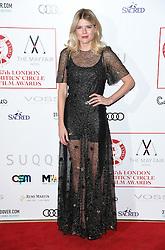 Emma Greenwell arriving at the London Film Critics Circle Awards 2017, the May Fair Hotel, London.