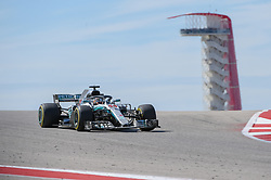 October 21, 2018 - Austin, TX, U.S. - AUSTIN, TX - OCTOBER 21: Mercedes driver Lewis Hamilton (44) of Great Britain crests the peak with the tower in the background during the F1 United States Grand Prix on October 21, 2018, at Circuit of the Americas in Austin, TX. (Photo by Ken Murray/Icon Sportswire) (Credit Image: © Ken Murray/Icon SMI via ZUMA Press)