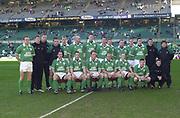 Twickenham. Surrey, UK., 16th February 2002, Six Nations International Rugby,  RFU Stadium, England vs Ireland,  [Mandatory Credit: Peter Spurrier/Intersport Images],<br /> <br /> The Lloyds TSB Six Nations Championship<br /> England v Ireland<br /> RFU - Twickenham<br /> 16/02/2002<br /> Ireland team Photo<br /> <br /> <br /> <br />  <br /> <br /> <br /> <br /> <br /> <br /> <br /> <br /> <br /> <br /> <br /> Salesi Finau