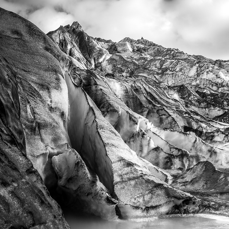 ice wall from glacier.