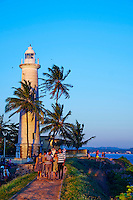 Sri Lanka, province du sud, district de Galle, Galle, Vieille ville classée patrimoine mondial de l'UNESCO, phare dans le fort // Sri Lanka, Southern Province, South Coast beach, Galle, old town, Dutch fort, UNESCO World Heritage site, Lighthouse